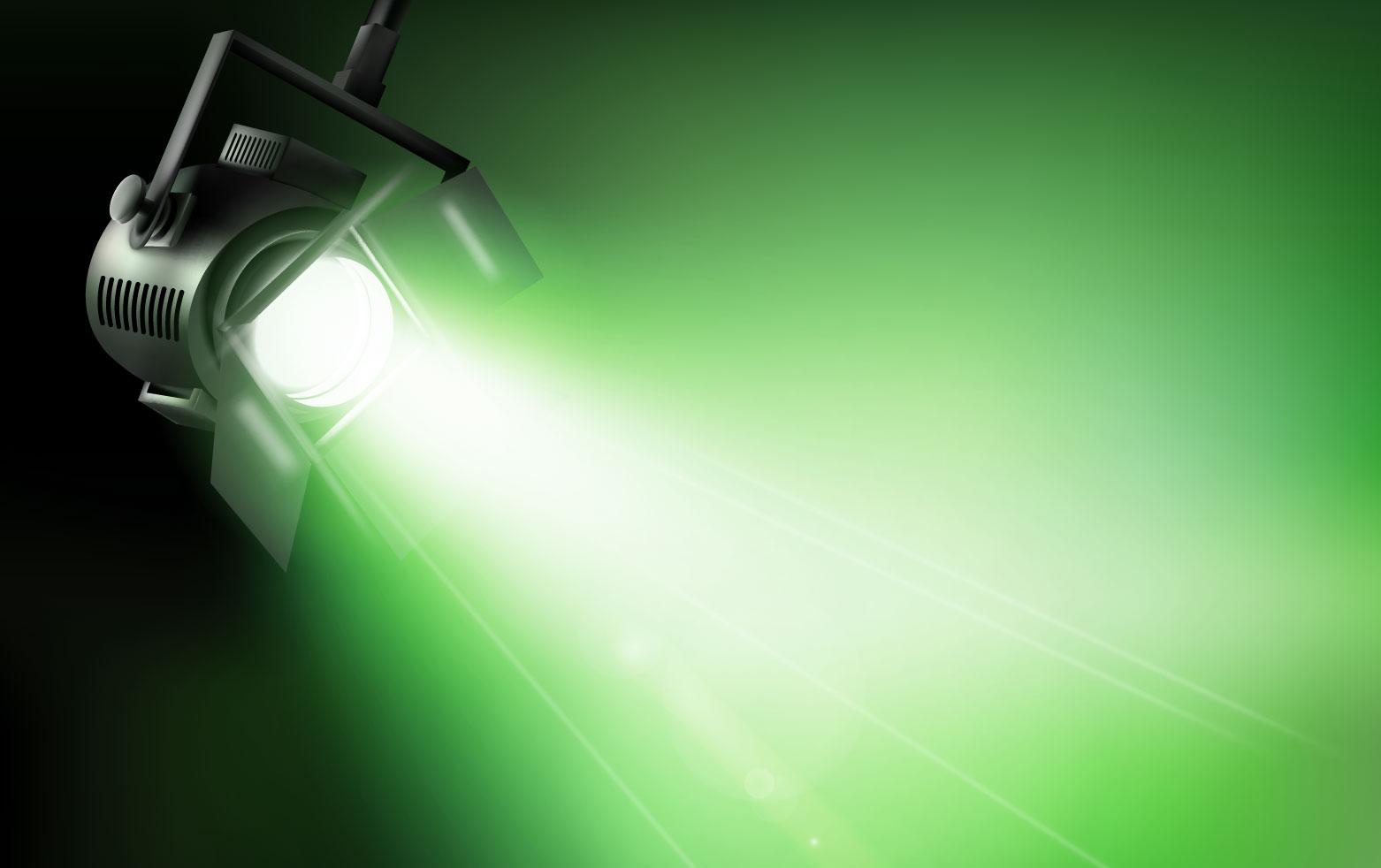Dichroitisches Glas - Beleuchtungsfilter FE Green