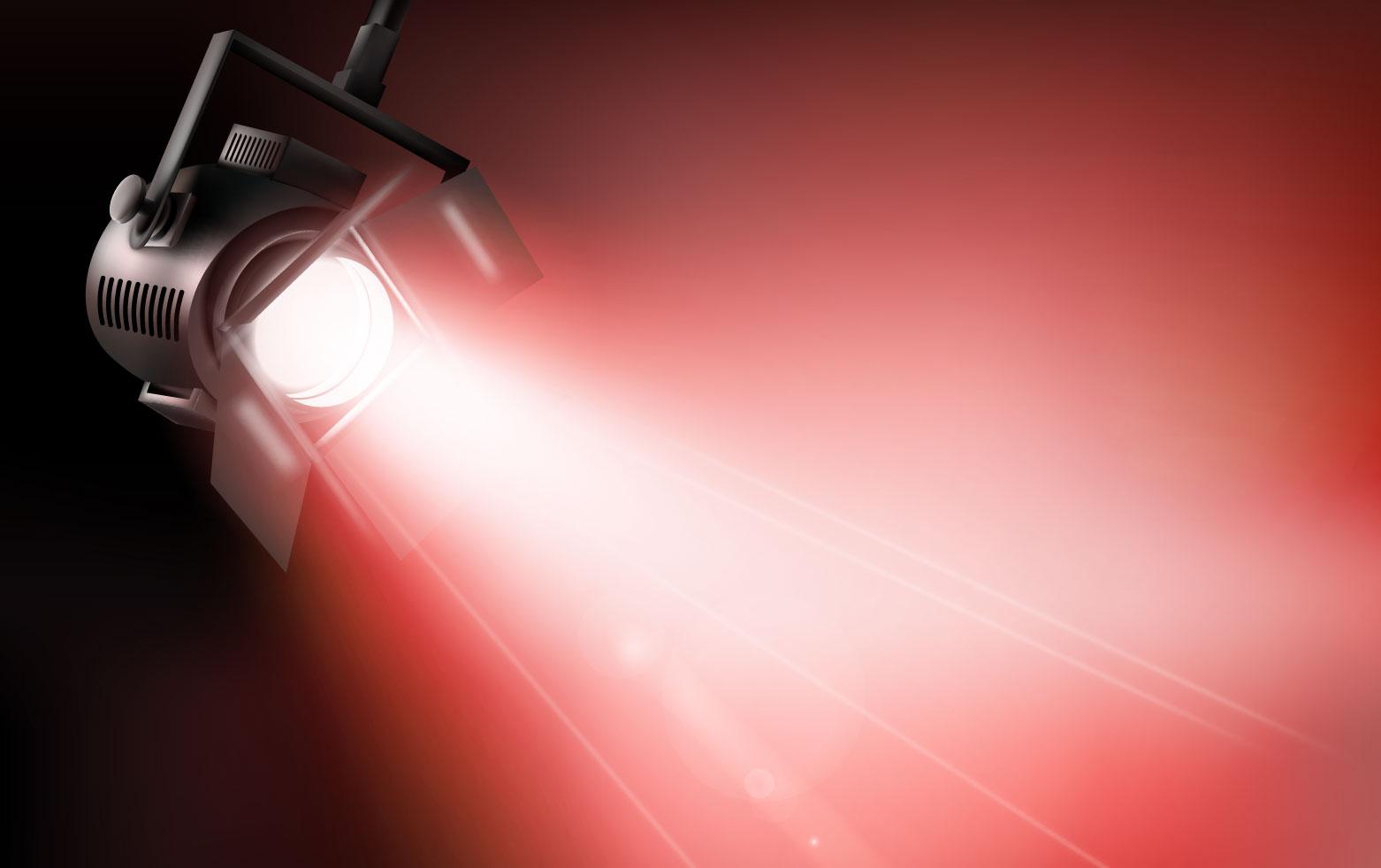 Dichroitisches Glas - Beleuchtungsfilter FE Red