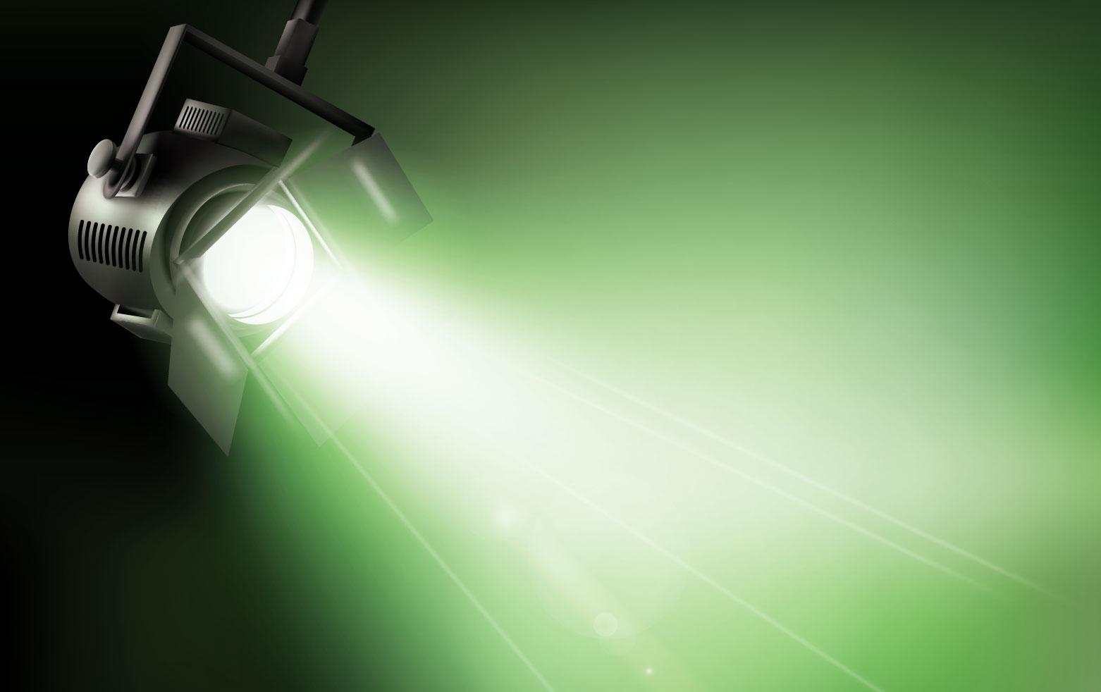 Dichroitisches Glas - Beleuchtungsfilter FM Green