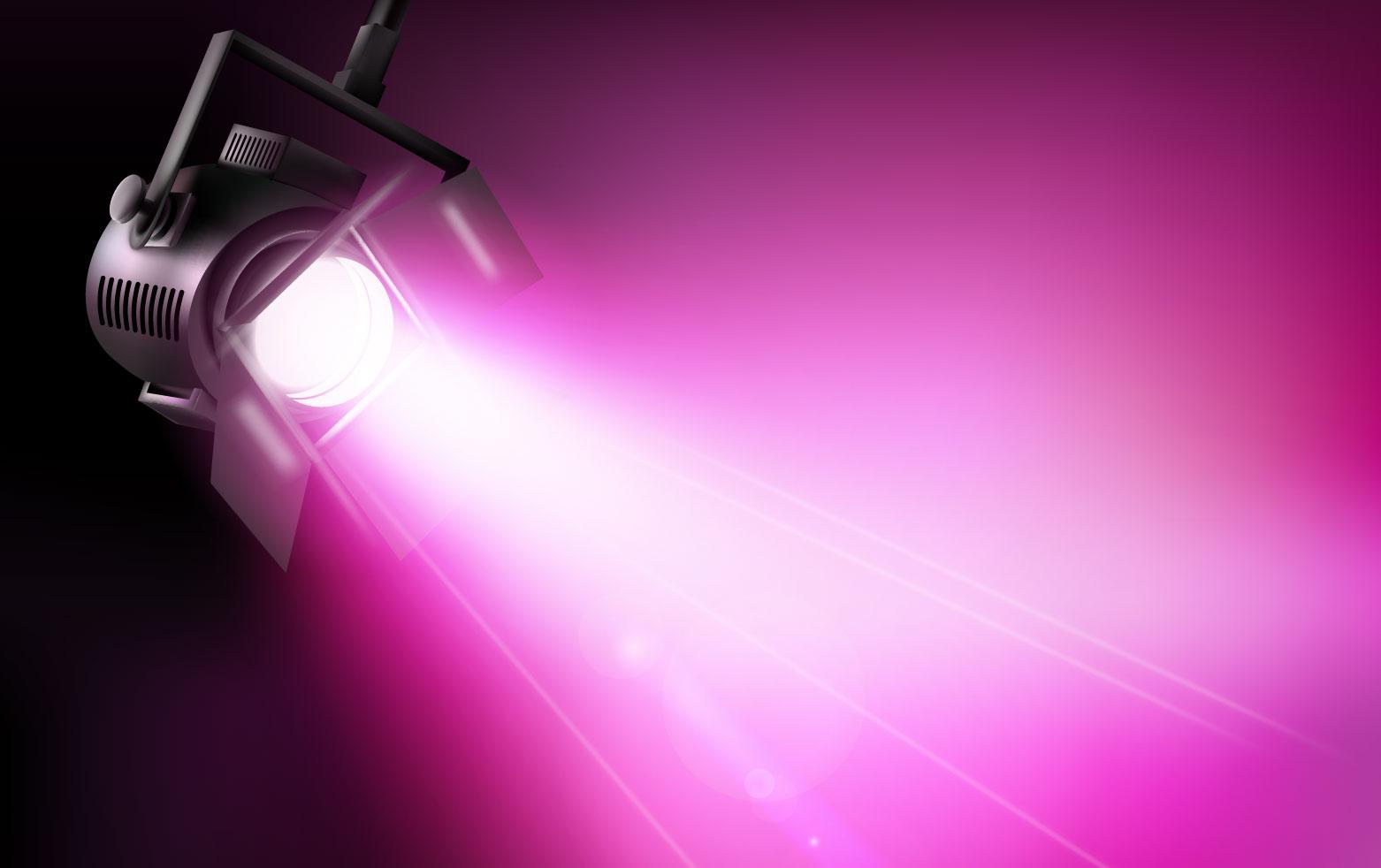 Dichroitisches Glas - Beleuchtungsfilter FS Pink 450600