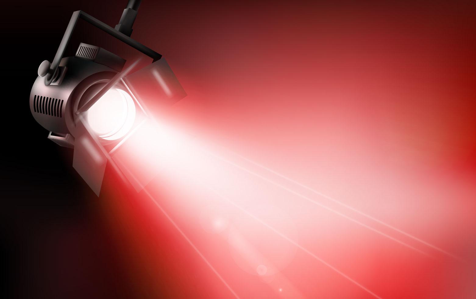 Dichroitisches Glas - Beleuchtungsfilter FS Red 415605