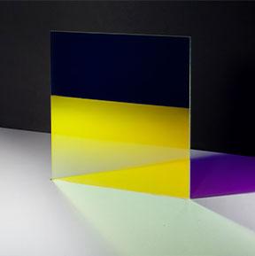 Colour effect glass FE Cyan Night view