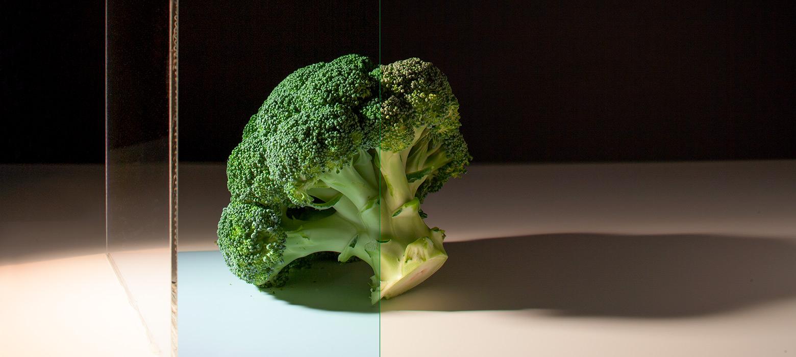 Konversionsfilter für die Warenbeleuchtung: Gemüseabteilung