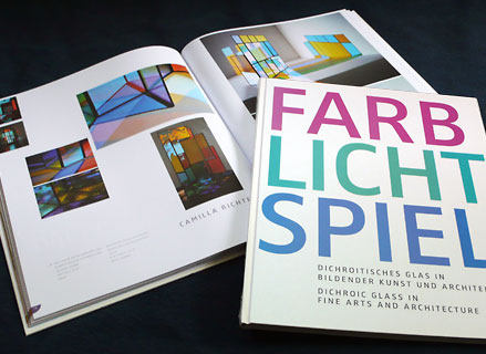 "coulor-effect glass book ""Farb-Licht-Spiel"""