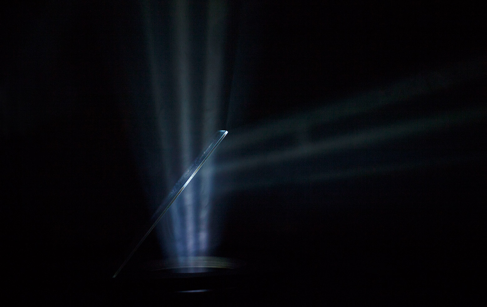 Art projection with beam splitters