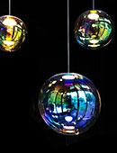 "Designer lamps ""Iris"" by NEO/CRAFT with dichroic glass"
