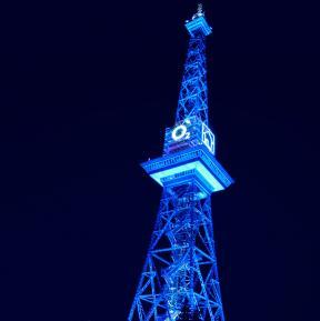 Beleuchtung Funkturm Berlin - Kundenfarbe O2
