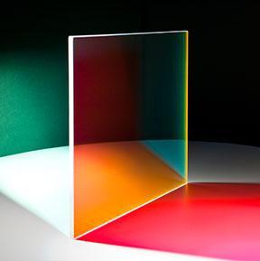 Farbeffektglas - Dichroitischer Filter FS Magenta beleuchtet