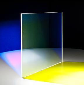 Farbeffektglas - Dichroitischer Filter FS Yellow beleuchtet