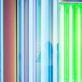 Dichroic filters for spectral installation Liz West - Photo Jim Stephenson