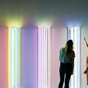 Dichroic filters for installation Liz West - Photo Jim Stephenson