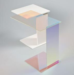 Kukka Design studios: Spectra ABCD Table with dichroic glass