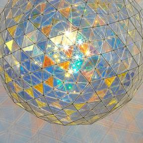Care and power sphere - Ólafur Eliasson, with dichroic glass