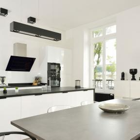 Lighting with conversion filters - Kitchen in the Villa Bayonne